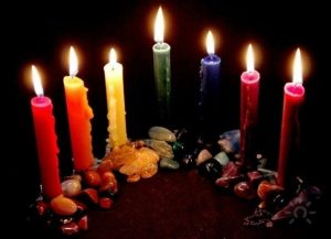 Lilin Berwarna — Untuk Mantra Money Amulet